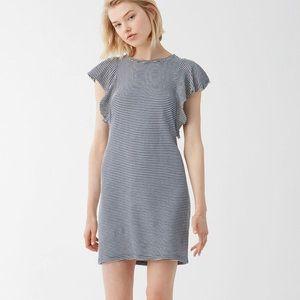 Splendid Navy Striped Cotton Dress Sz Large